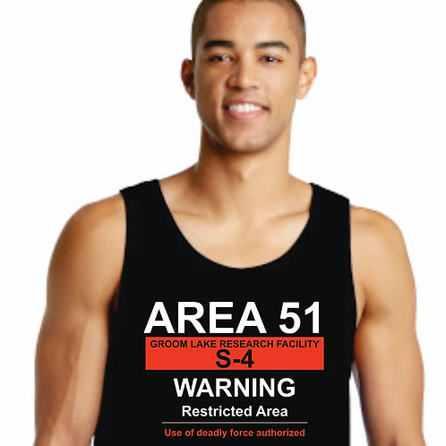 Men's Warning Sign Tank Top