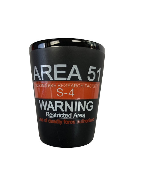 Warning Sign Shotglass