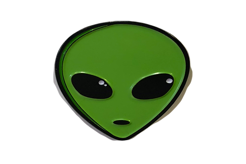Alien Head Lapel Pin