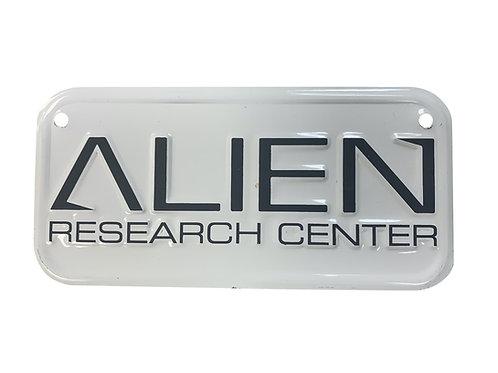 Alien Research Center Bike Plate
