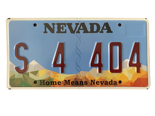 License Plate S 4 404