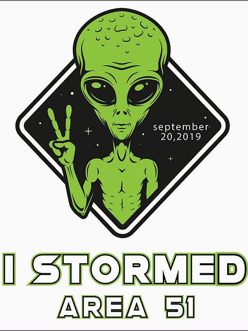 We Storm in Peace Sticker