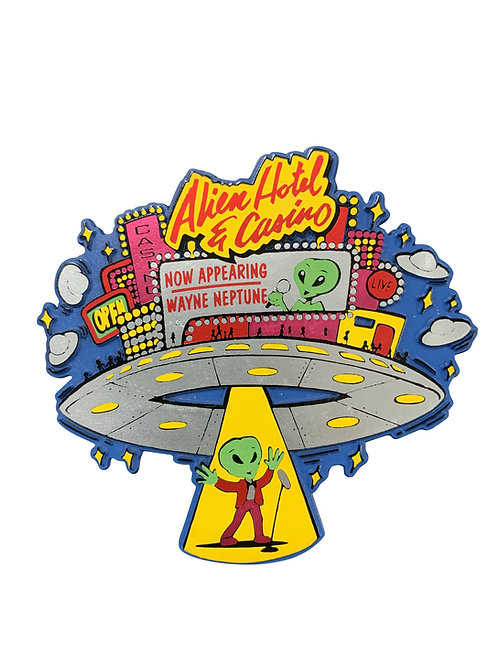 Alien Hotel Casino refrigerator magnet