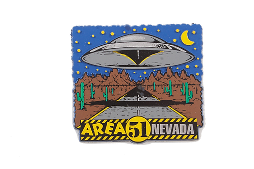 Highway Spaceship Refrigerator Magnet
