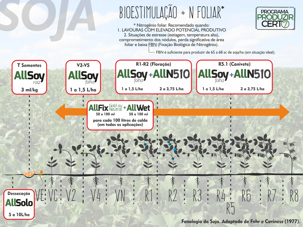 Escala fenológica da SOJA + N Foliar