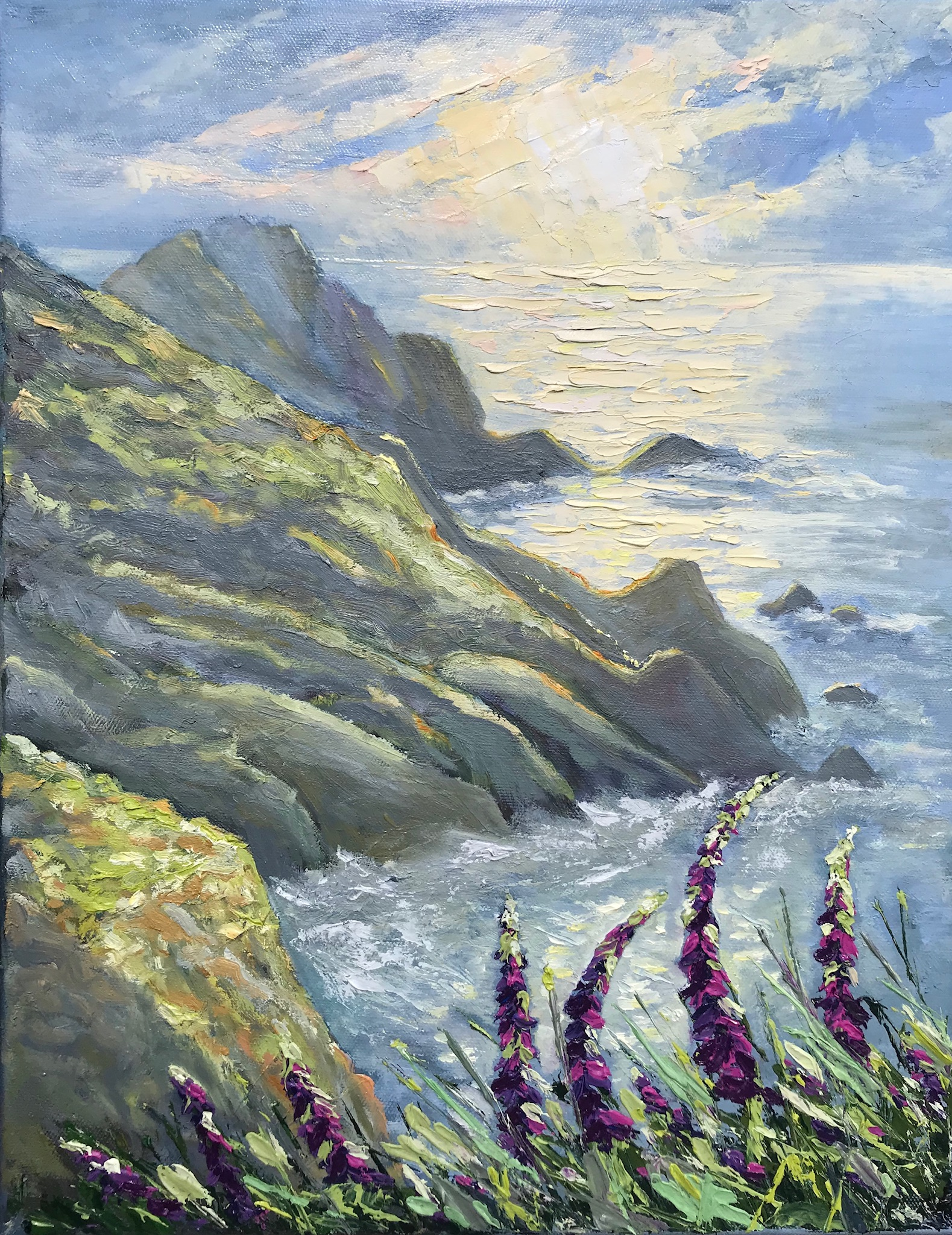'Sunlight Over the Cliffs'