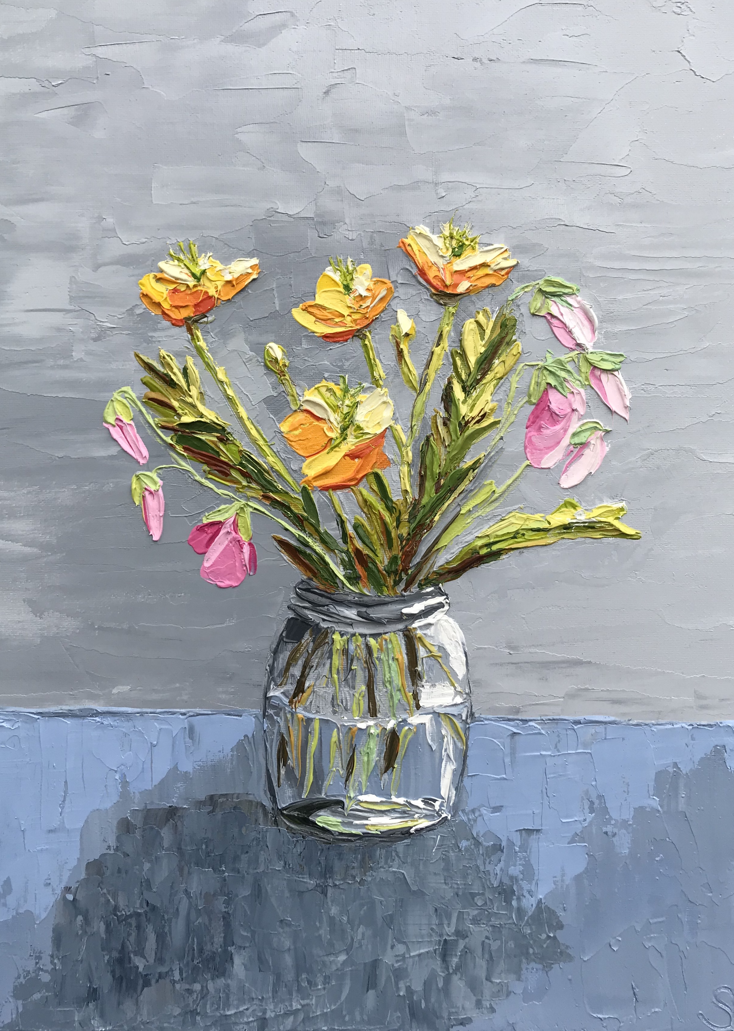 'Flowers in a Jam Jar'
