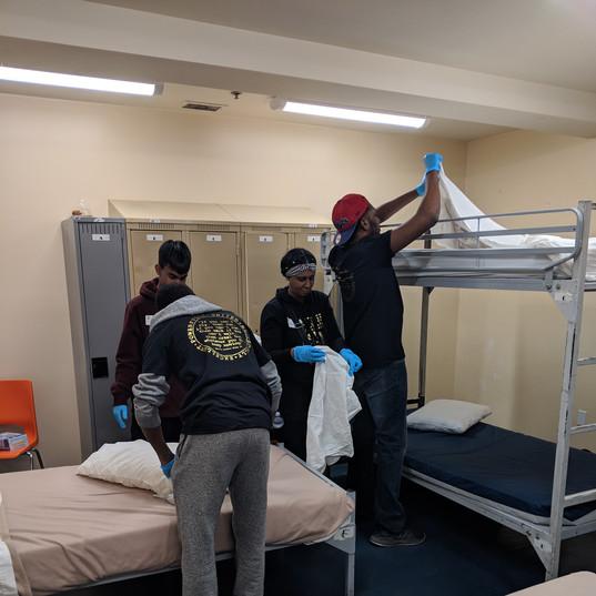 Making beds at Good Sheppard