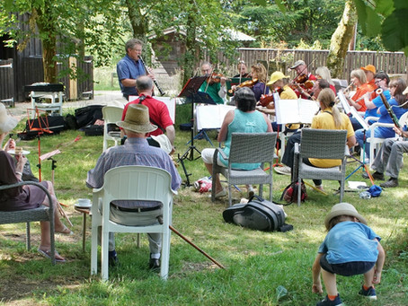 Nantgaredig Community Band at Golden Grove