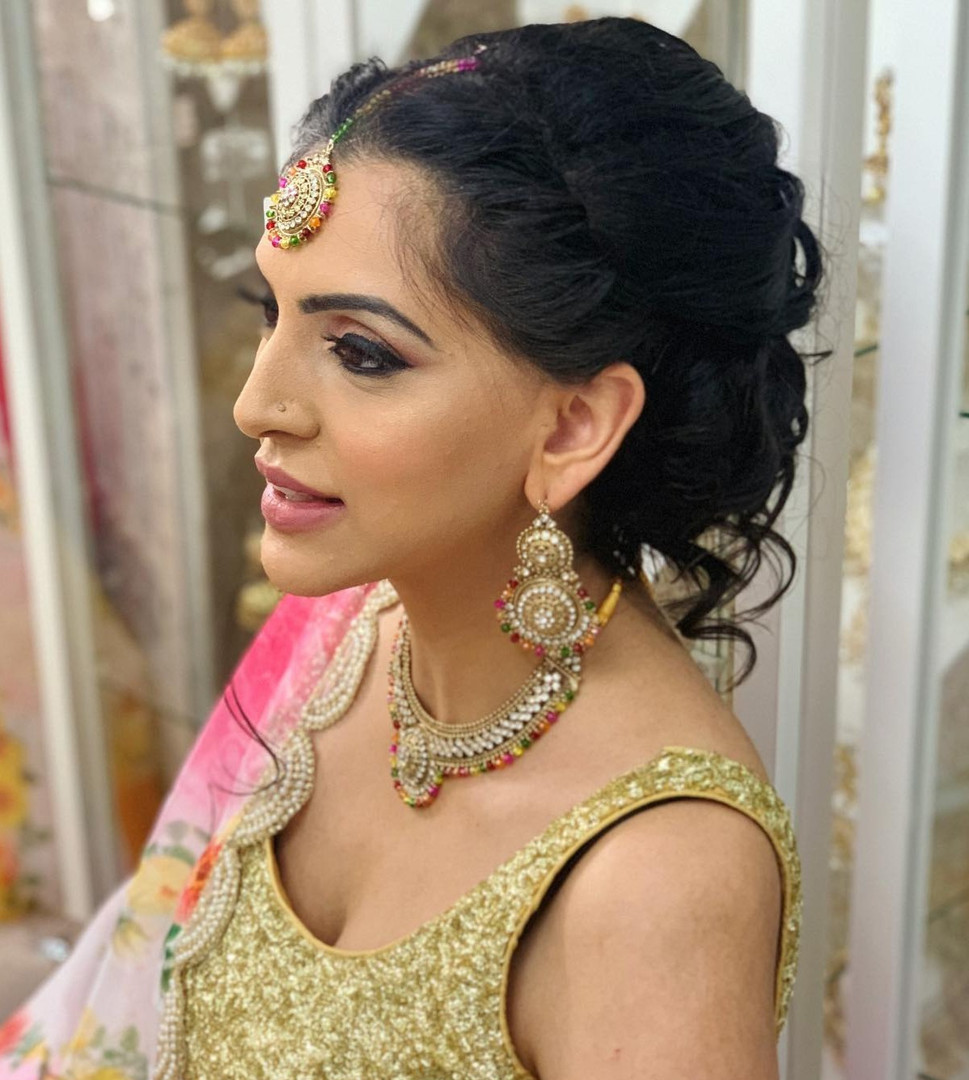 Occasion party hair and makeup