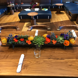 Dining Trough with Florals