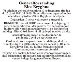 Indkaldelse til generalforsamling