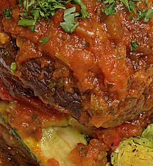 Vegetarian Moussaka Pillar
