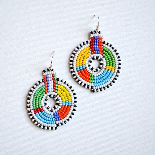 The White Lantern Masai Earrings