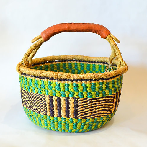 Round Bolga Baskets (Size & Colour Options available)