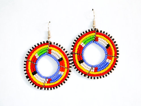 Traditional Masai Beadwork Earrings