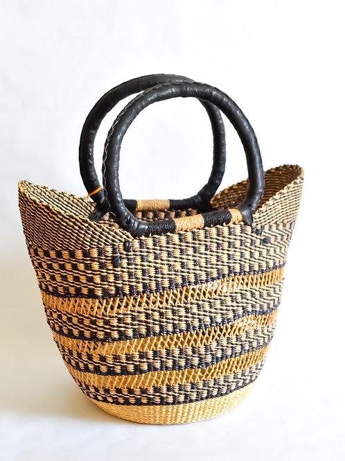 Handwoven Market Basket (Monochrome Collection)