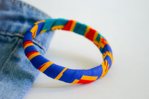 Colourful Fabric Bangles - Size S to M (Various Colours)