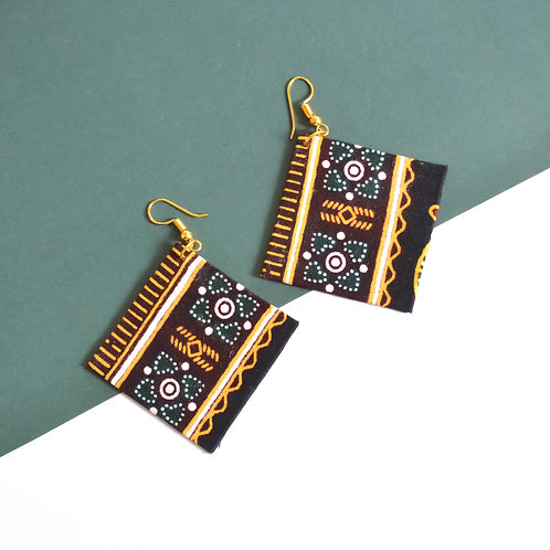Outside the Box Fabric Earrings (Various Colours)