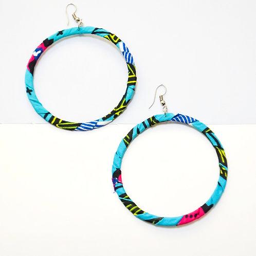Hula Hoop Fabric Earrings (Various Colours)