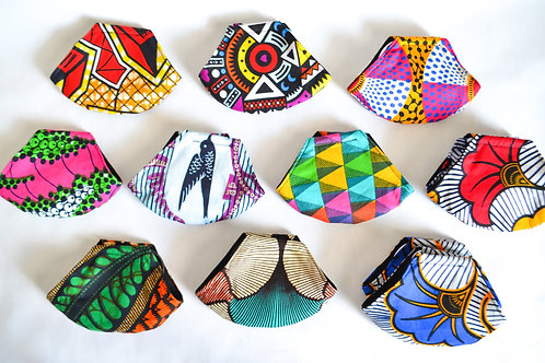 African 3 Layer Face Mask (Patterns Available)