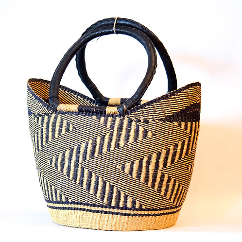 Handwoven Market Basket (Monochrome Collection)