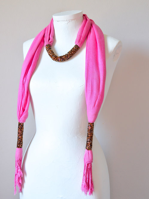 Beaded Neck Scarf (Colours Available)