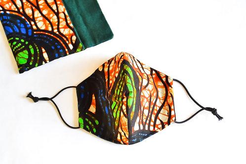 Fabric Face Mask - Traditional Tanzania Pattern