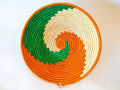 Handwoven Basket Bowls - Orange & Greens
