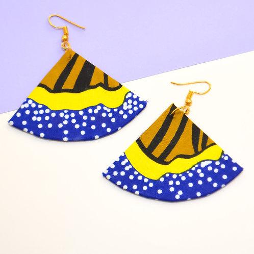 Umbrella Ella Fabric Earrings (Various Colours)
