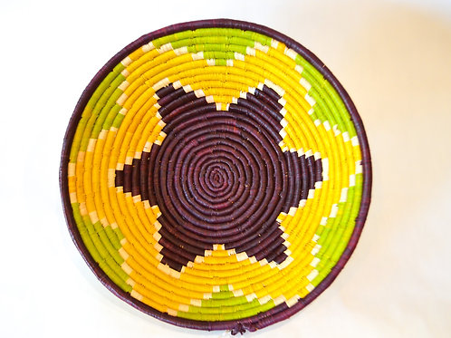 Handwoven Basket Bowls - Yellows & Browns