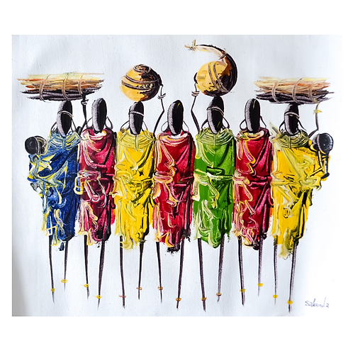 It takes a Village (in colour) - Artwork (unframed) - 30 x 40 cm