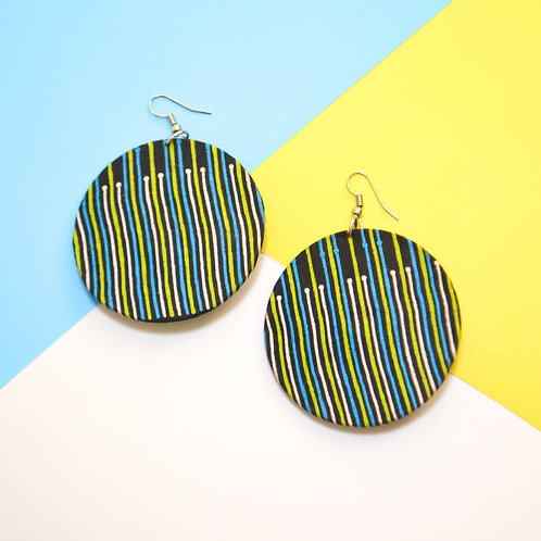 Bold Move Fabric Earrings (Various Colours)