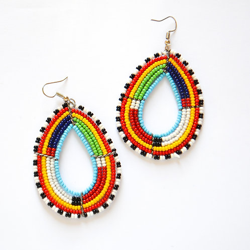 Traditional Masai Drop Earrings (2 Styles Available)