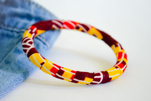Colourful Fabric Bangles - Size M to L (Various Colours)
