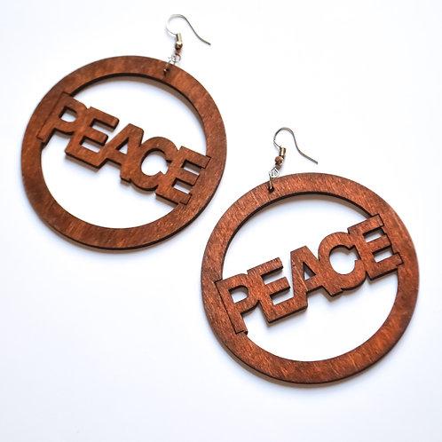 Wooden Peace Earrings