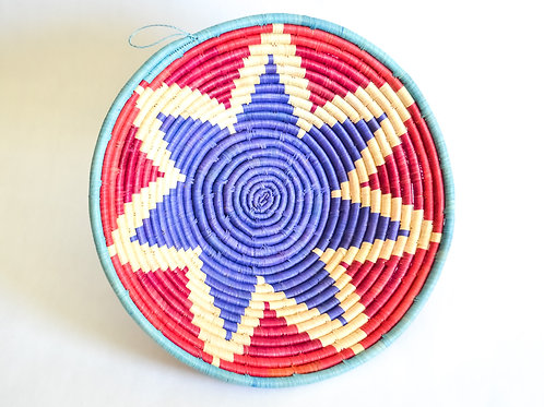 Handwoven Basket Bowls - Floral Collection