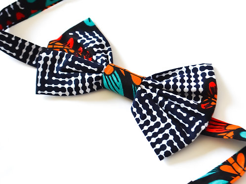 African Print Bow Ties - The Blacks & Browns