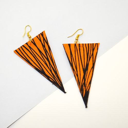 Diva Drop Triangle Earrings (Various Colours)