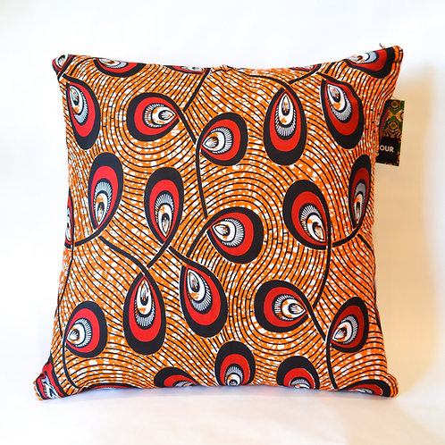 Afro Punk Cushions (Reds, Browns & Oranges)