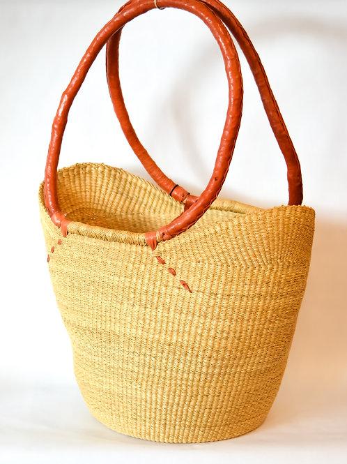 Natural Basket with Shoulder Handle