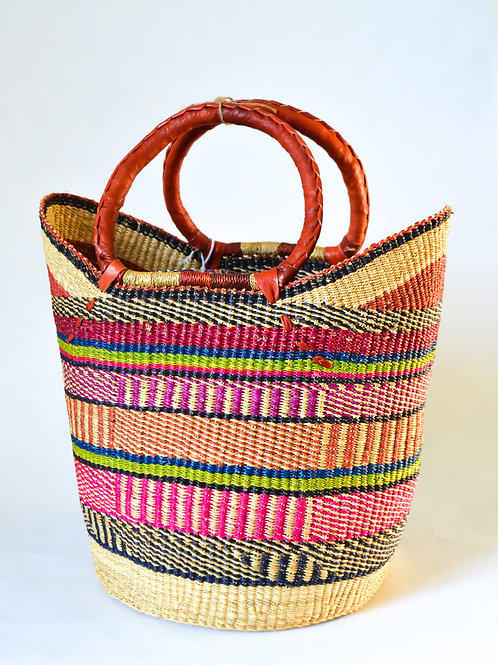 Handwoven Market Basket (Colourful Collection)