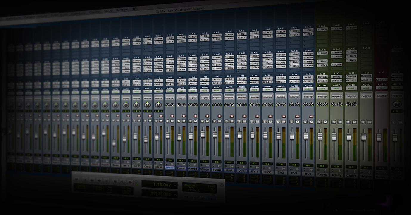 Mesa de mixagem Pro Tools