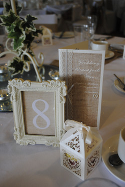Menu & Framed Table Number