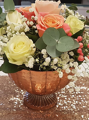 Rose Gold Footed Bowl
