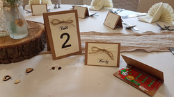 Rustic Number & Name Card