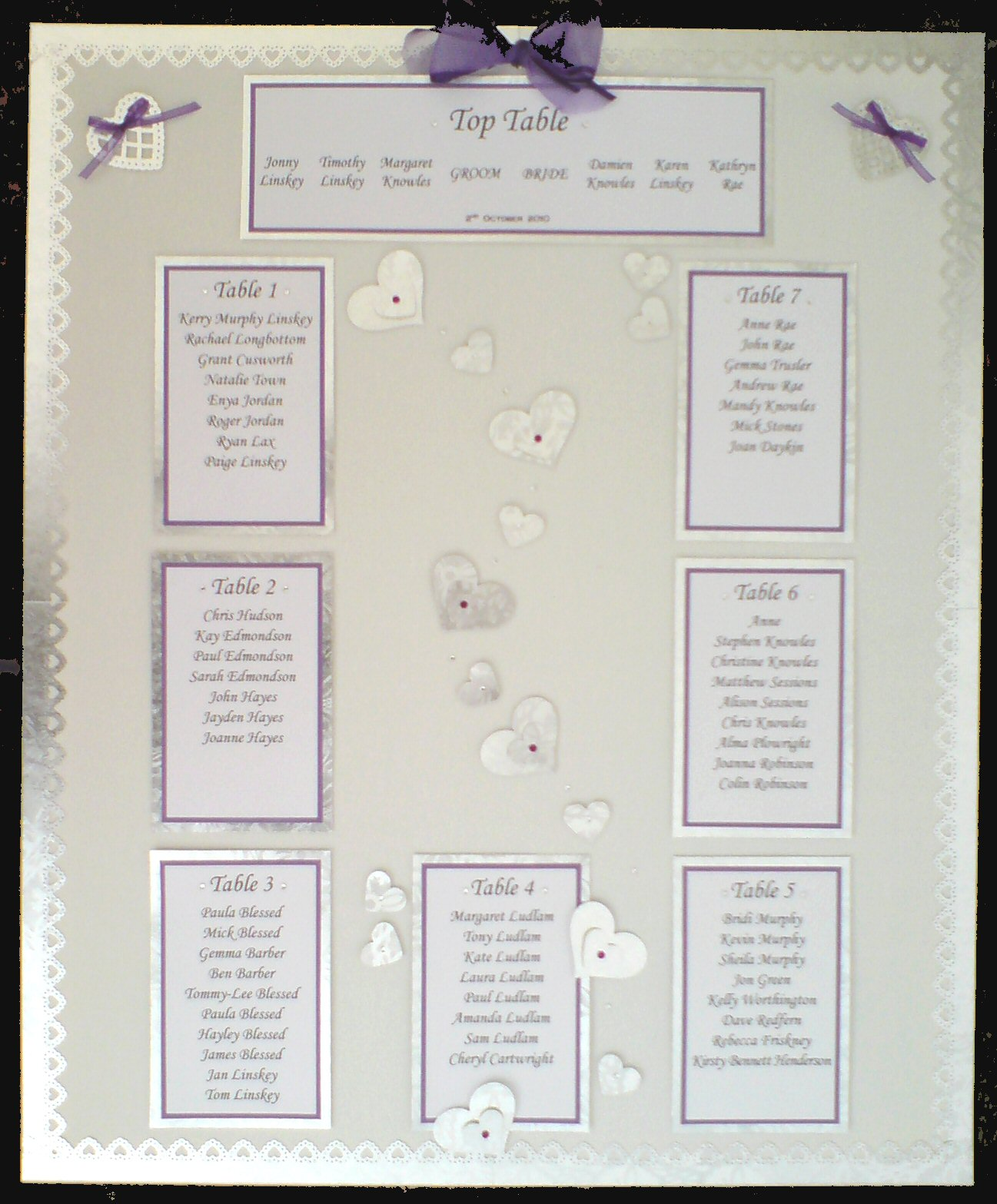 Love Heart Table Plan