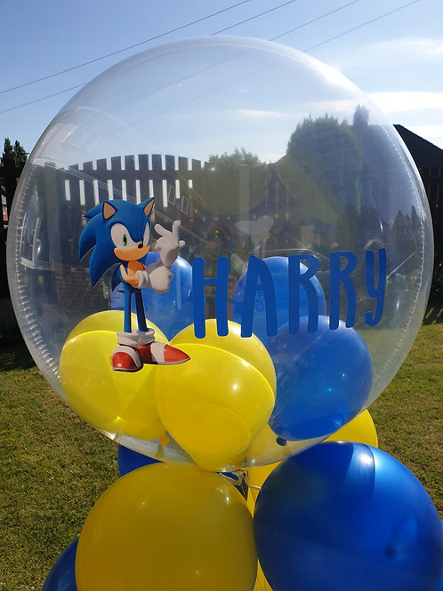 Sonic the Hedgehog Bubble Balloon filled with mini balloons