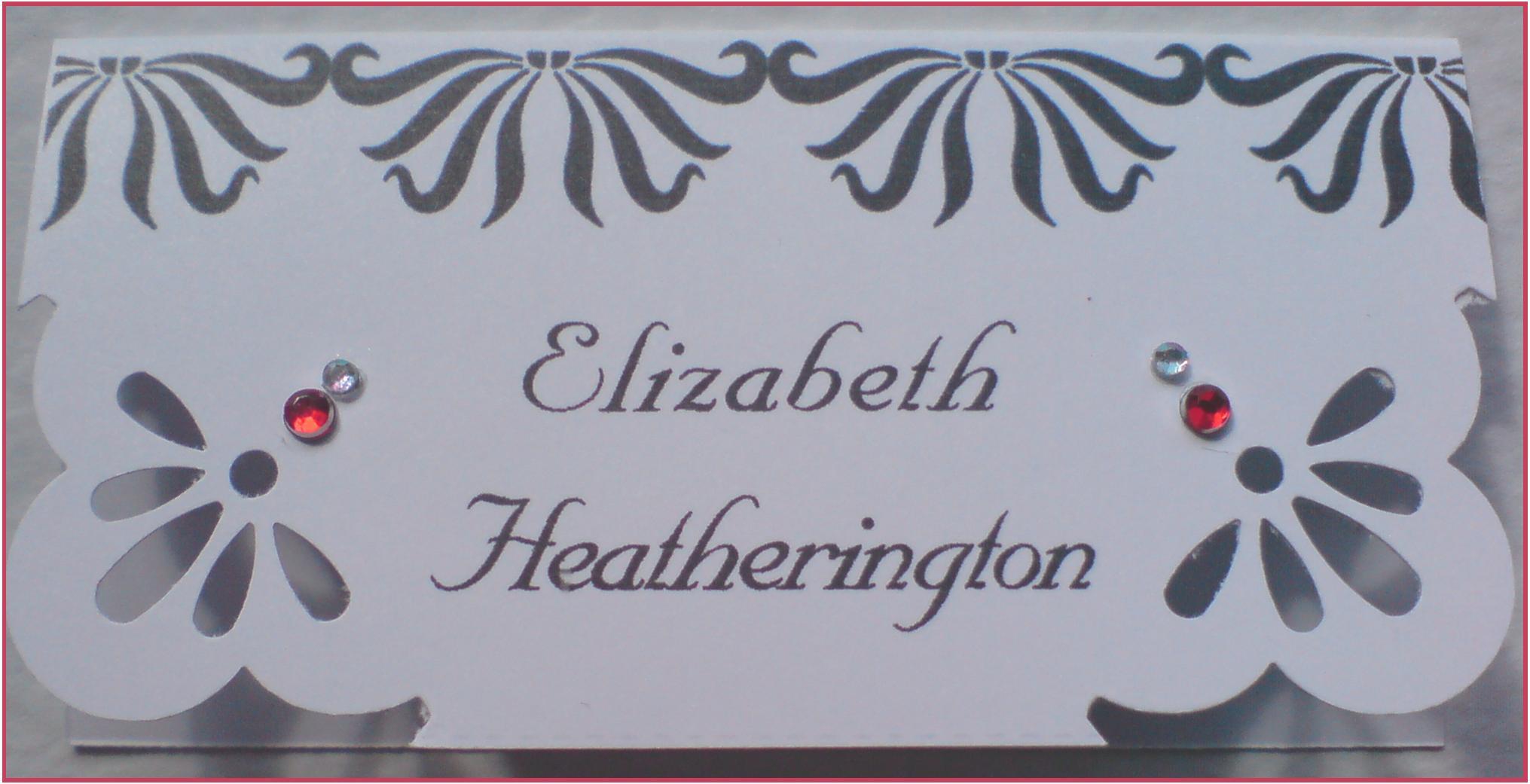 Art Deco Name Card