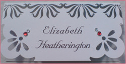 Art Deco Name Card